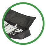 Deckenabhängung Messestand Tasche